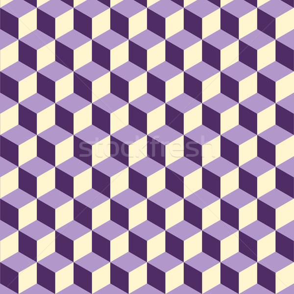 Abstract isometric violet cube pattern background Stock photo © punsayaporn
