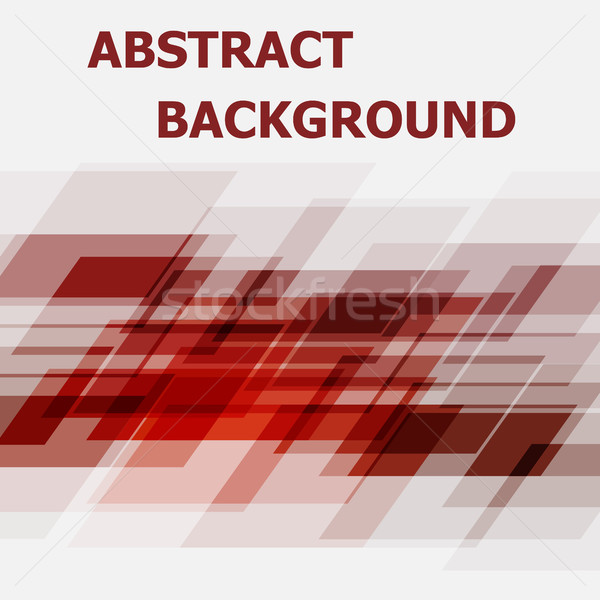 Abstract red geometric overlapping design background Stock photo © punsayaporn