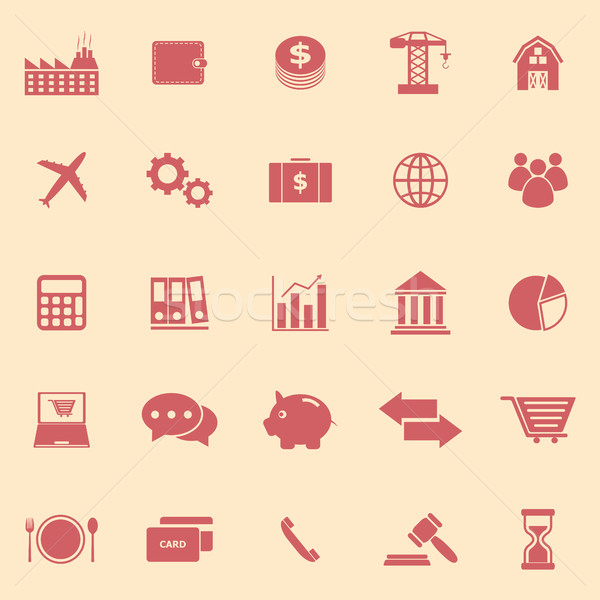 Economy color icons on yellow background Stock photo © punsayaporn