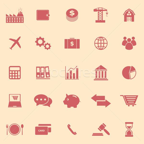Gospodarki kolor ikona żółty czas wektora Zdjęcia stock © punsayaporn
