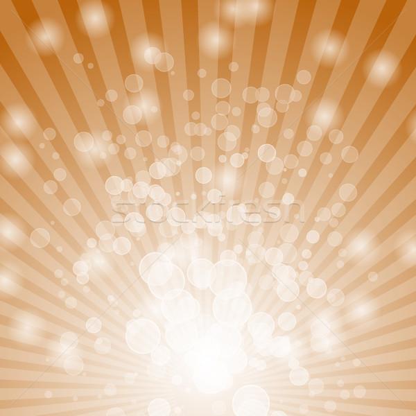 Absztrakt bokeh narancs stock vektor fény Stock fotó © punsayaporn