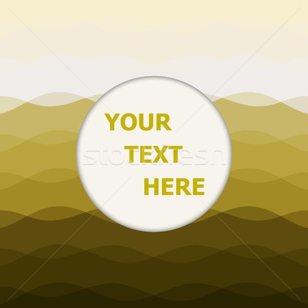 ストックフォト: 抽象的な · 黄色 · 曲線 · 行 · 在庫 · ベクトル