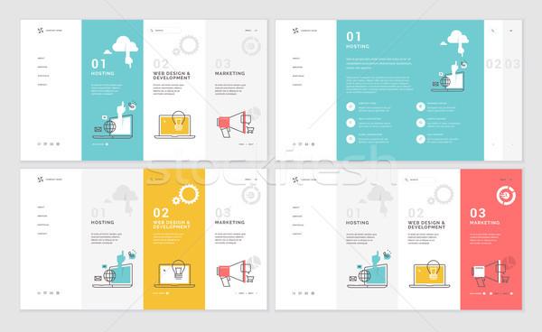Set of website template designs Stock photo © PureSolution