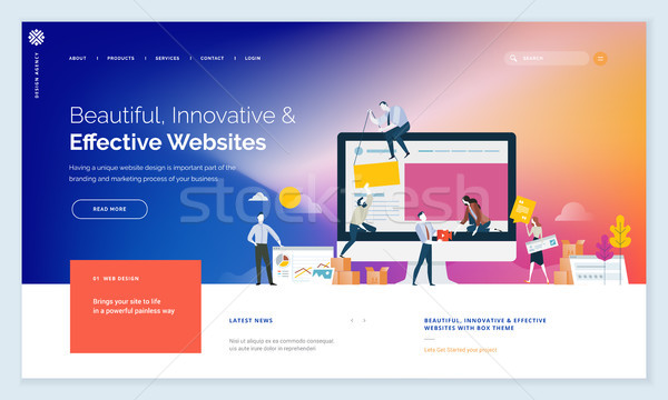 Effective website template design Stock photo © PureSolution