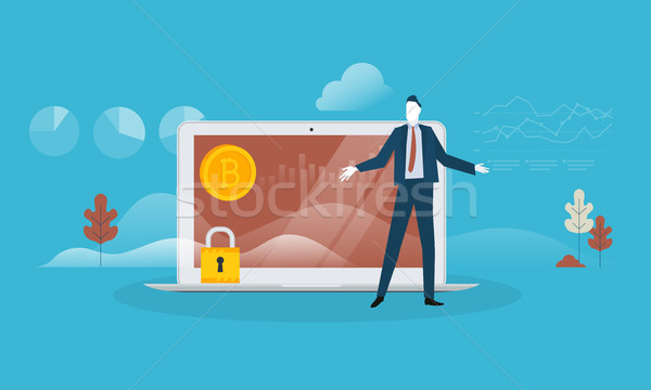Bitcoin security Stock photo © PureSolution