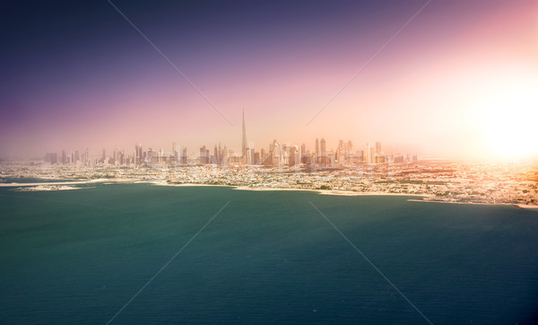 Dubai skyline at sunset, United Arab Emirates Stock photo © PureSolution