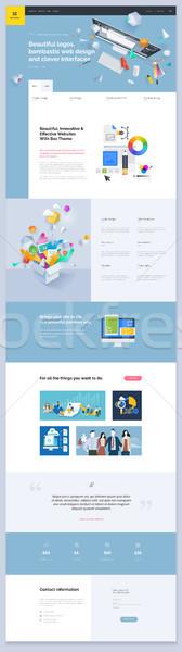 Een pagina website sjabloon ontwerp web Stockfoto © PureSolution