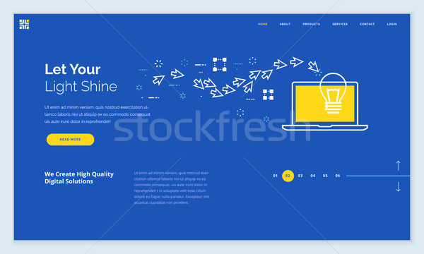 Website template design Stock photo © PureSolution