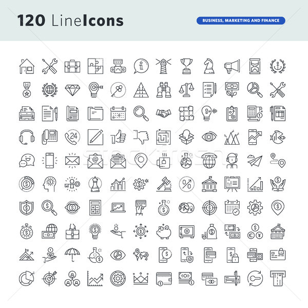 Set of premium concept icons for business, marketing and finance Stock photo © PureSolution
