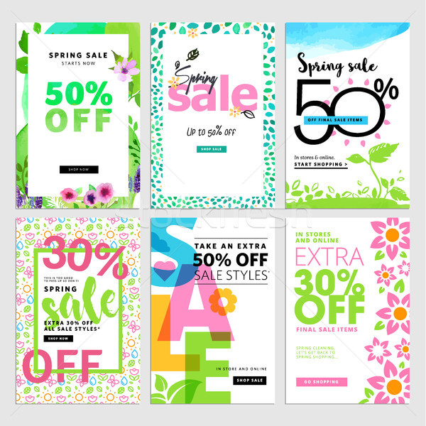 Set of mobile sale banners Stock photo © PureSolution