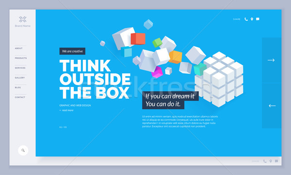 Conception de site web modèle site mobiles développement Creative Photo stock © PureSolution