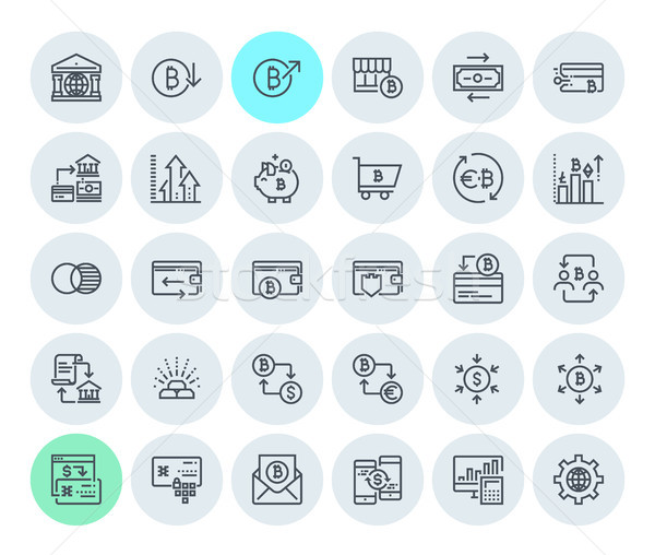 Cryptocurrency icons collection Stock photo © PureSolution
