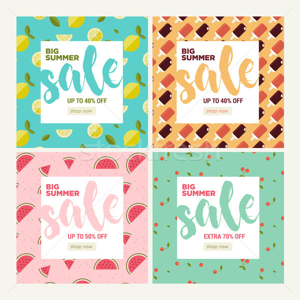 Summer sale. Set of website sale banner templates.  Stock photo © PureSolution