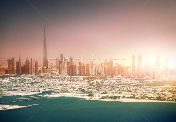 Dubai coastline at sunset Stock photo © PureSolution