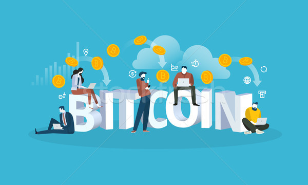 Bitcoin cloud mining Stock photo © PureSolution