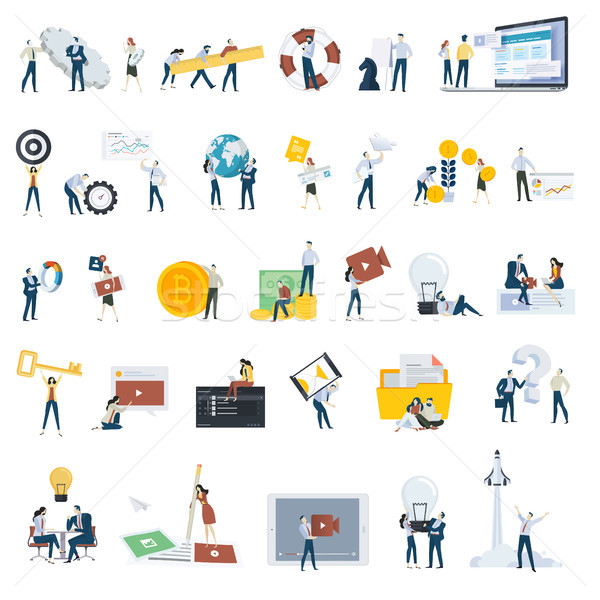 Flat design people concept icons isolated on white Stock photo © PureSolution