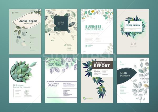 Ingesteld brochure verslag dekken ontwerp Stockfoto © PureSolution