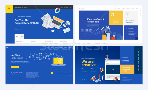 Creative website template design Stock photo © PureSolution