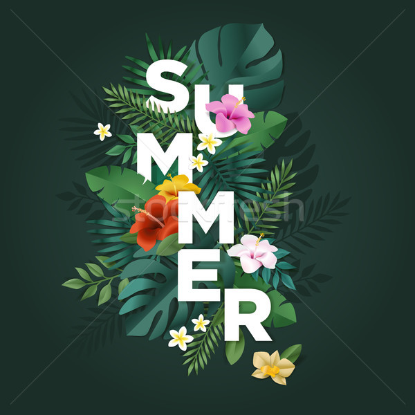 Summer vector illustration concept for background, web and social media banner, summertime card, par Stock photo © PureSolution