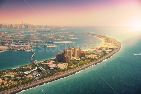 Palm Island in Dubai, aerial view Stock photo © PureSolution
