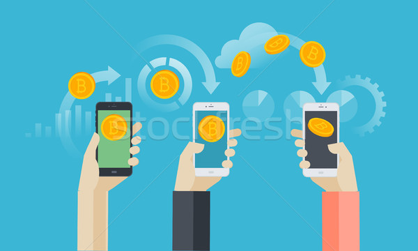 Mobile bitcoin wallet. Stock photo © PureSolution