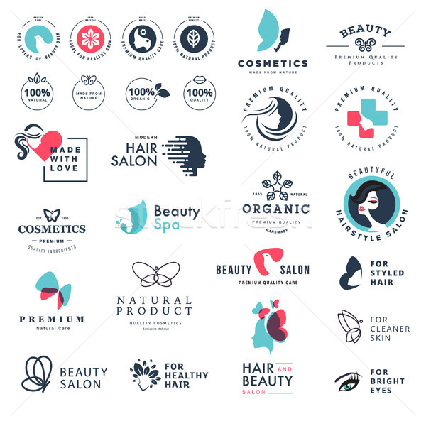 Premium quality beauty and nature icons Stock photo © PureSolution