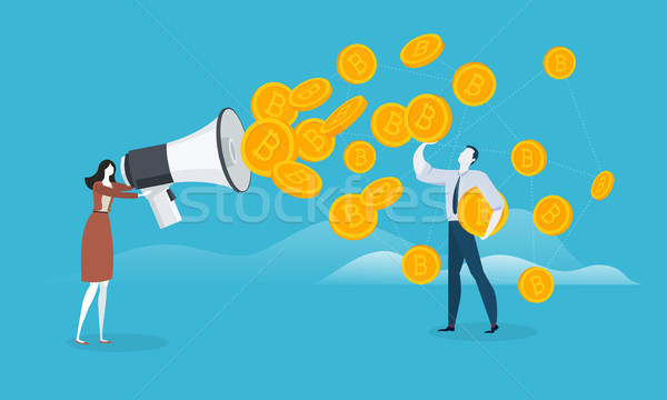 Bitcoin marketing Stock photo © PureSolution