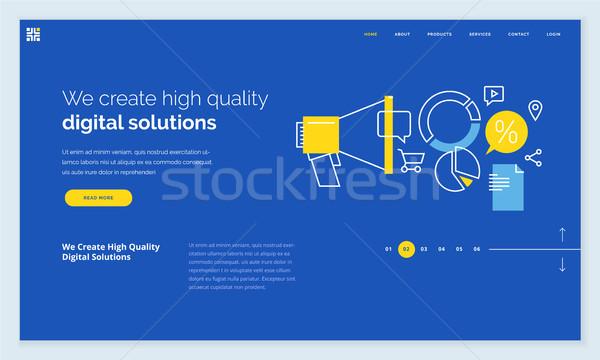 Stockfoto: Website · sjabloon · ontwerp · moderne · lijn · web