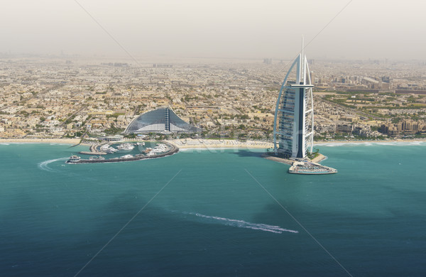 Skyline of Dubai from the sea. Stock photo © PureSolution