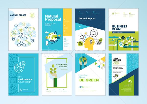Stockfoto: Ingesteld · brochure · verslag · dekken · ontwerp