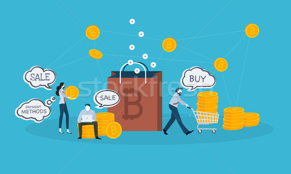 Bitcoin shopping Stock photo © PureSolution