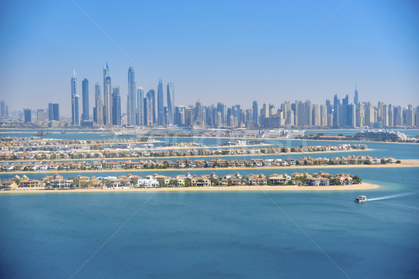 Dubai Marina, view from Palm Island. Stock photo © PureSolution