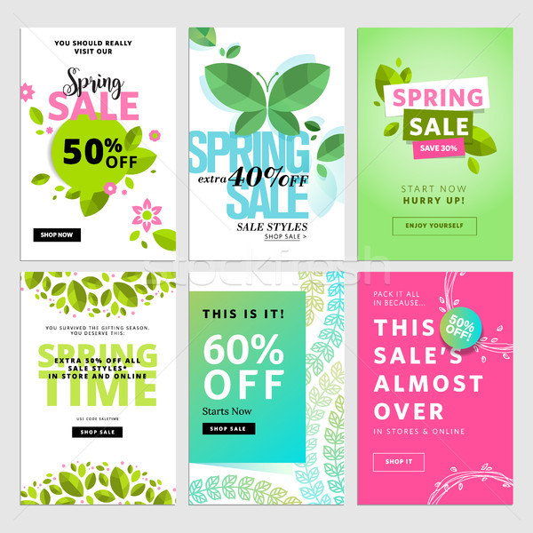 Mobile sale banner templates Stock photo © PureSolution