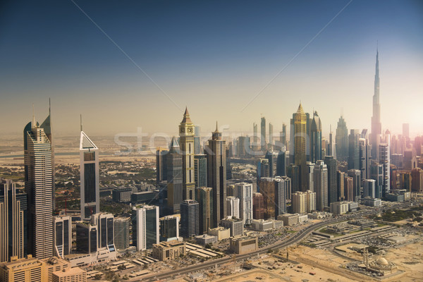 Dubai skyline from the air Stock photo © PureSolution