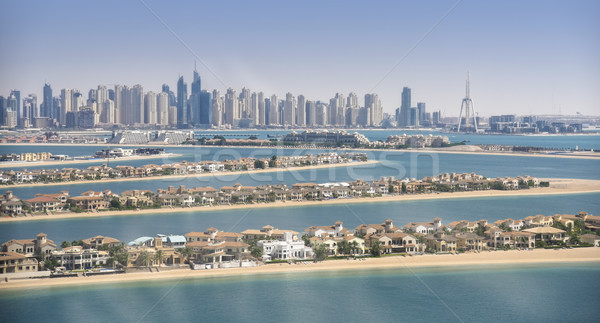 Panorama Dubai marina panorâmico ver palma Foto stock © PureSolution