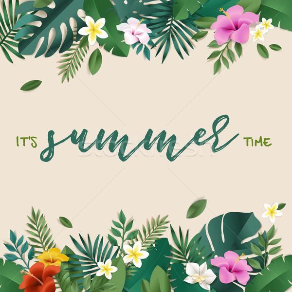 Zomer web social media banner zomertijd kaart Stockfoto © PureSolution