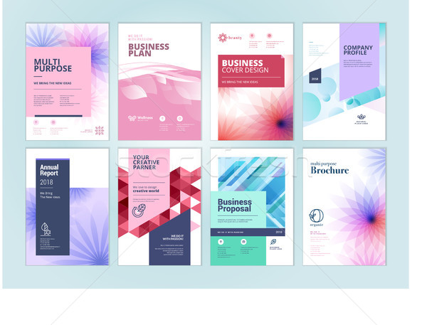 Set of beauty brochure, annual report, flyer design templates in A4 size Stock photo © PureSolution