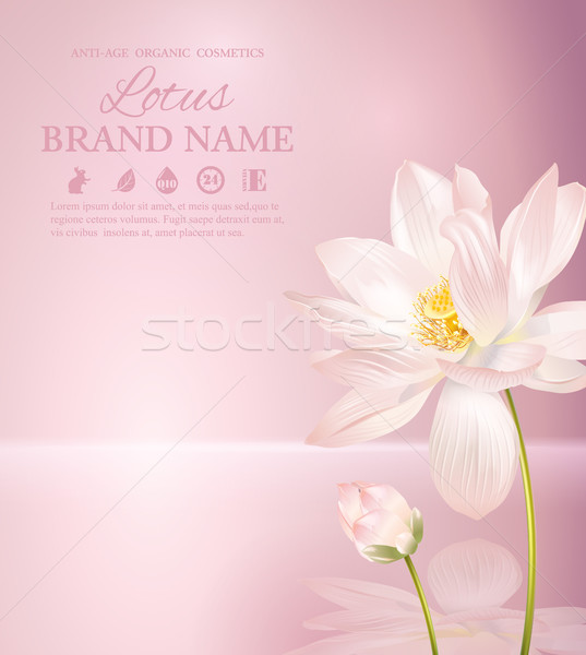 Lotus flower banner Stock photo © PurpleBird