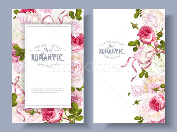 Romantic garden banners Stock photo © PurpleBird