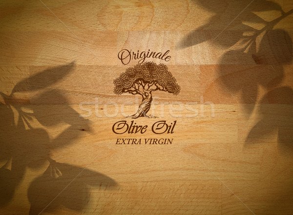 Olive horizontal banner Stock photo © PurpleBird