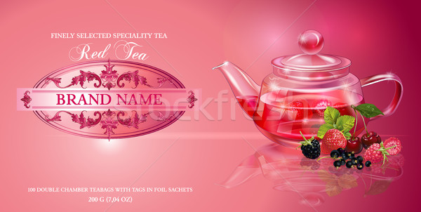 Berry tea banner Stock photo © PurpleBird