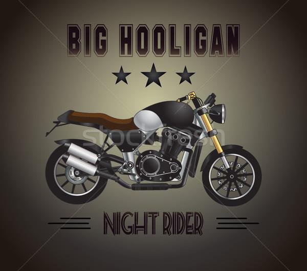 Stock fotó: Motorkerékpár · nagy · huligán · vektor · inspiráló · hirdetés