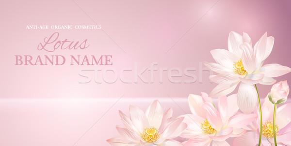 Lotus flower banner Stock photo © PurpleBird