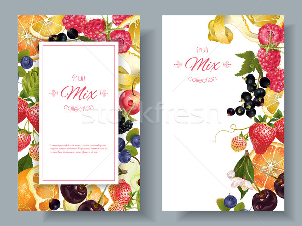 Fruit and berry banners Stock photo © PurpleBird