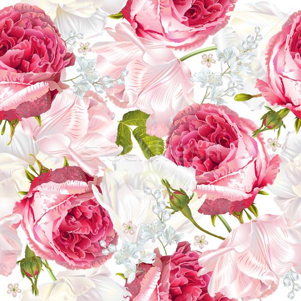 Romantic flowers vertical banner Stock photo © PurpleBird