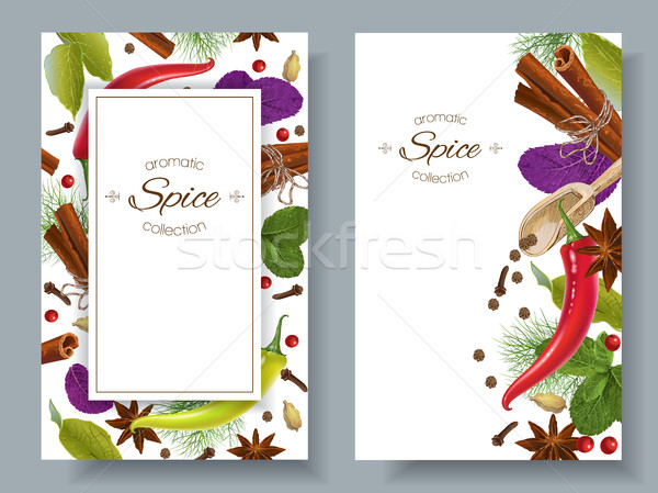Spice vertical banners Stock photo © PurpleBird