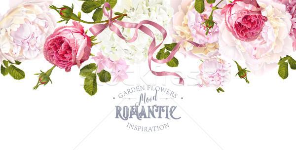Romantic garden border Stock photo © PurpleBird