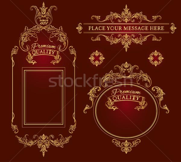 Calligraphic decoration elements Stock photo © PurpleBird