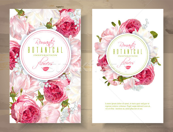 Romantic flowers vertical banners Stock photo © PurpleBird