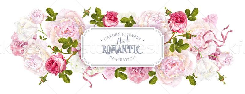 Romantic garden web banner Stock photo © PurpleBird